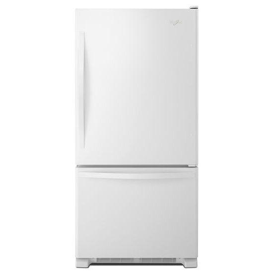 Whirlpool Bottom Freezer Refrigerators - 2014 22 cu. ft. Bottom-Freezer Refrigerator with  - Item Number: WRB322DMBW