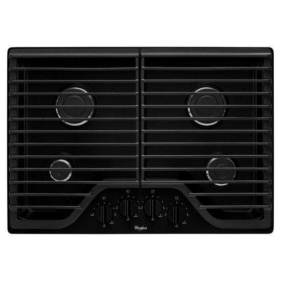 "Whirlpool Gas Cooktops 30"" Gas Cooktop with Multiple SpeedHeat™ - Item Number: WCG51US0DB"