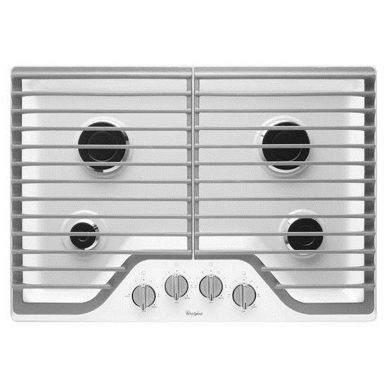 """Whirlpool Gas Cooktops 30"""" Gas Cooktop with Multiple SpeedHeat™ - Item Number: WCG51US0DW"""