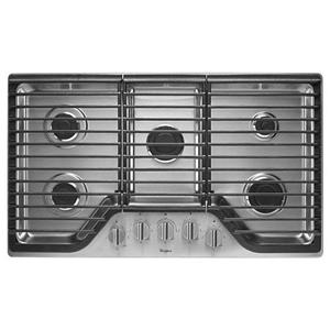 "Whirlpool Gas Cooktops 36"" 5 Burner Gas Cooktop"
