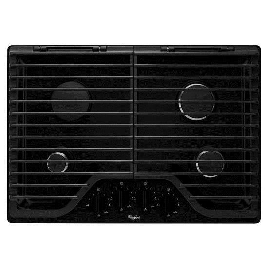 "Whirlpool Gas Cooktops 30"" Gas Cooktop - Item Number: WCG75US0DB"