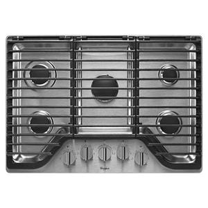 "Whirlpool Gas Cooktops 30"" 5 Burner Gas Cooktop"