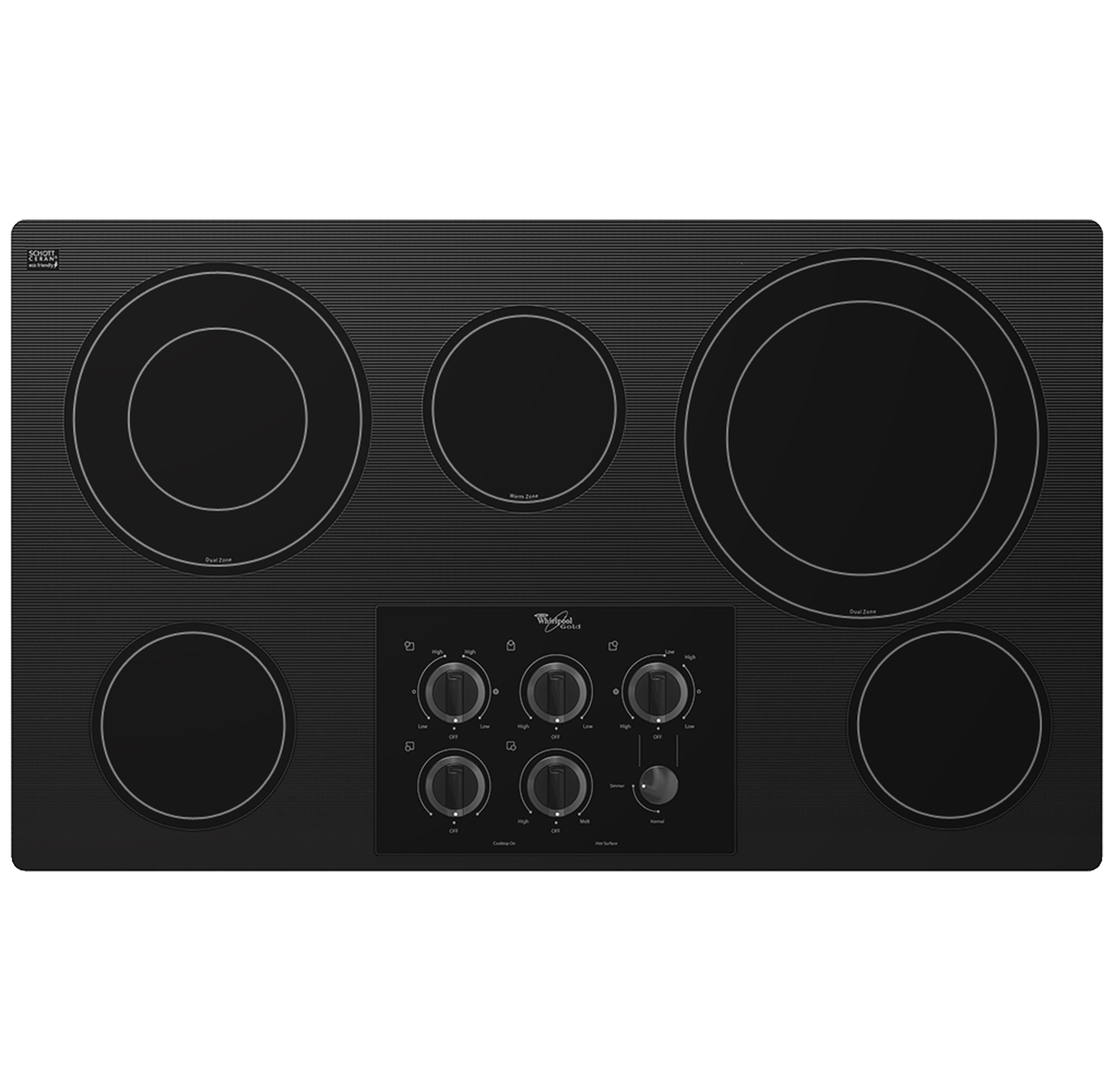"Whirlpool Electric Cooktops 36"" Built-In Electric Cooktop - Item Number: G7CE3635XB"
