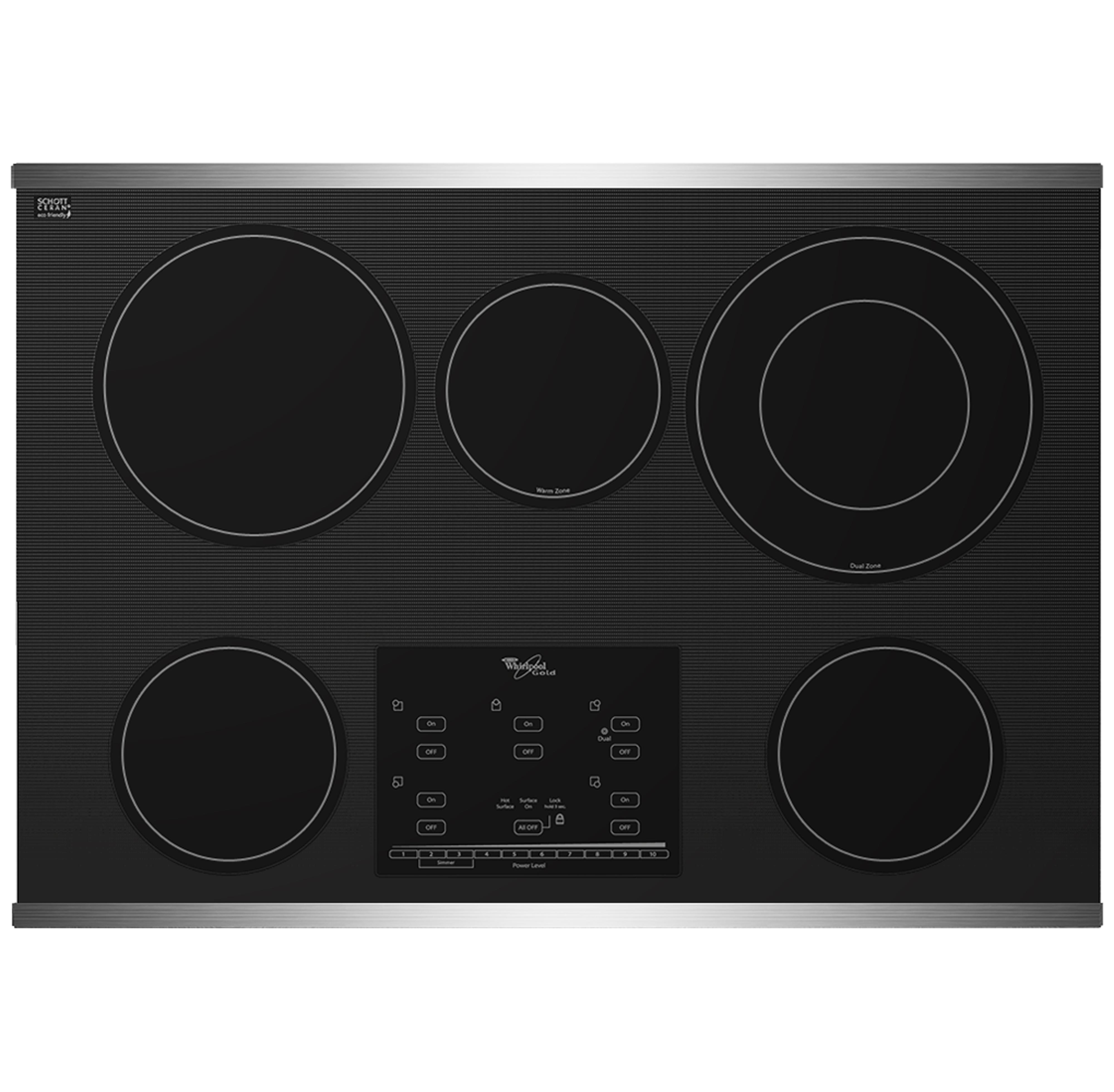 "Whirlpool Electric Cooktop 30"" Built-In Electric Cooktop - Item Number: G9CE3065XS"