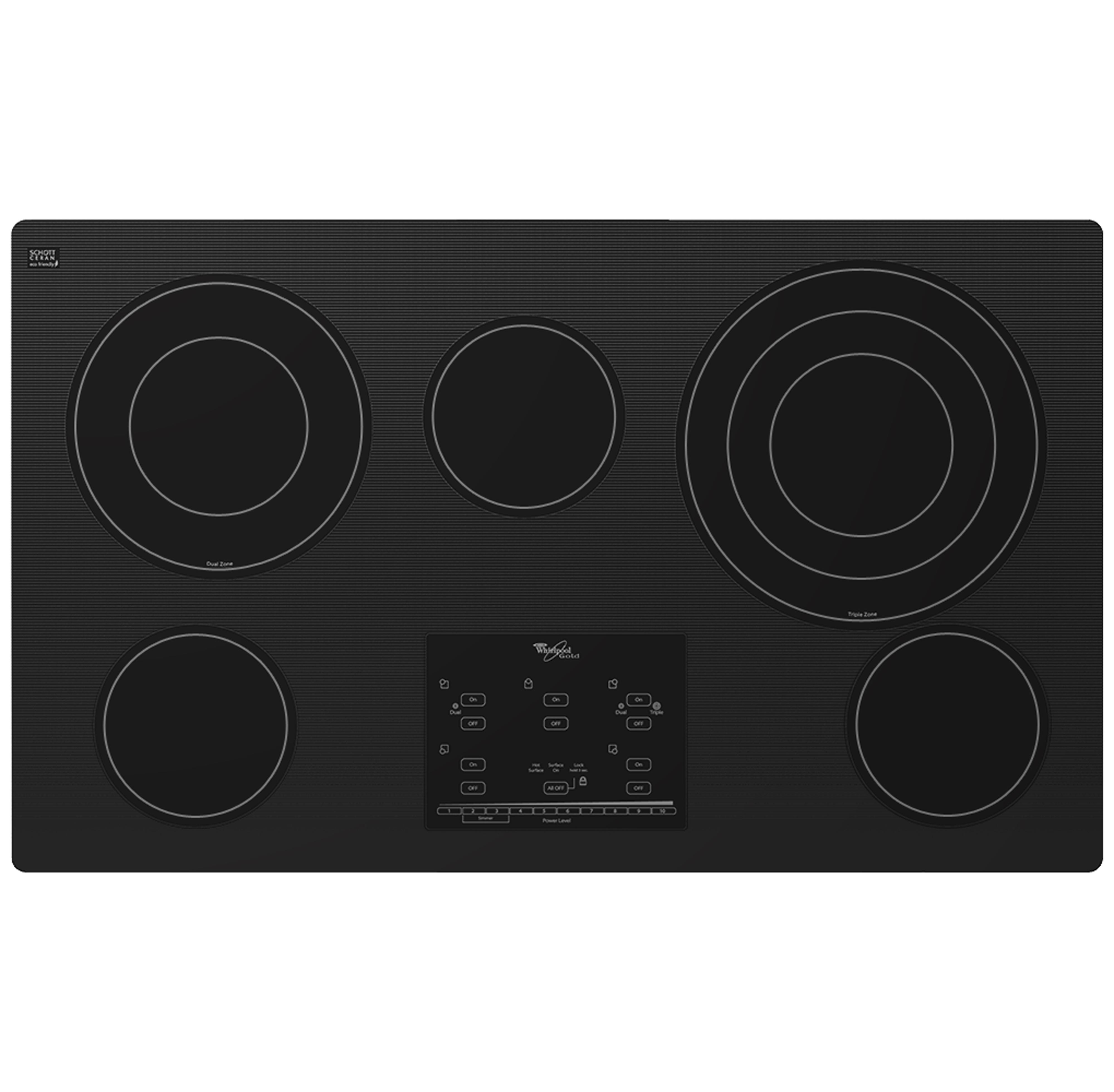 "Whirlpool Electric Cooktops 36"" Built-In Electric Cooktop - Item Number: G9CE3675XB"