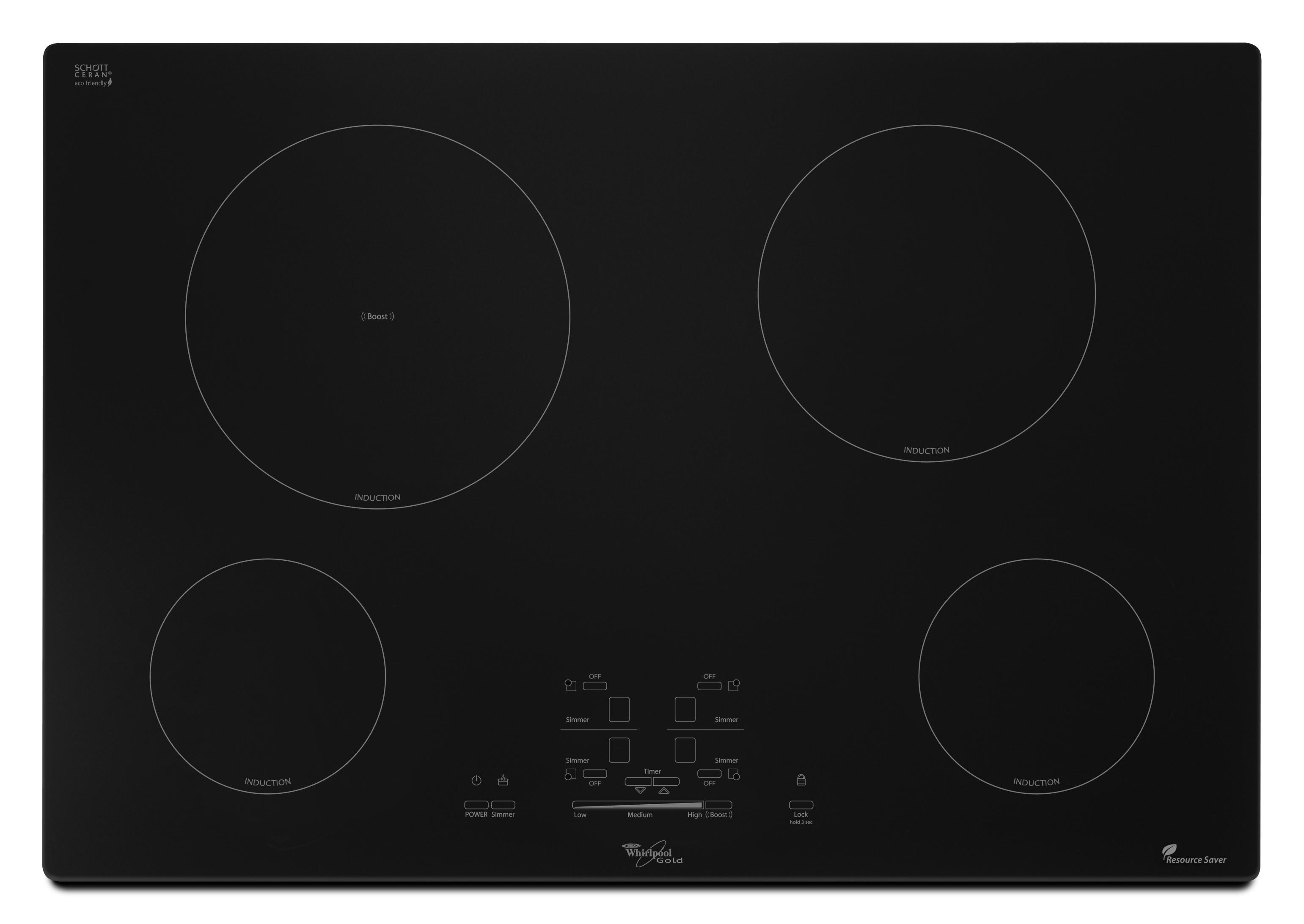 """Whirlpool Electric Cooktops 30"""" Built-In Electric Cooktop - Item Number: GCI3061XB"""