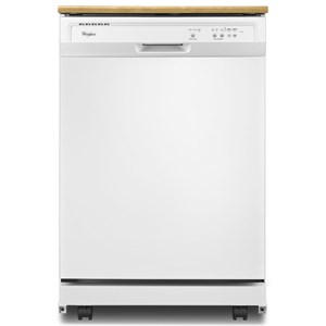 Whirlpool Dishwashers - Whirlpool 1-Hour Wash Cycle Portable Dishwasher