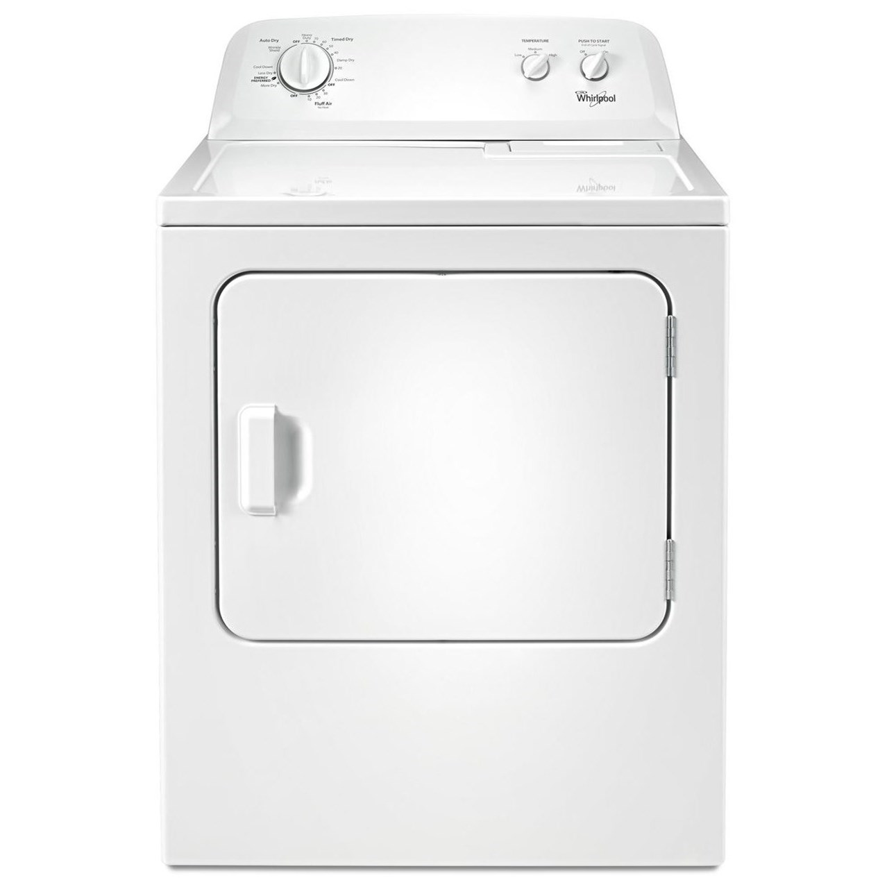 Whirlpool Electric Front Load Dryers 7.0 cu. ft. Top Load Paired Dryer - Item Number: WED4616FW