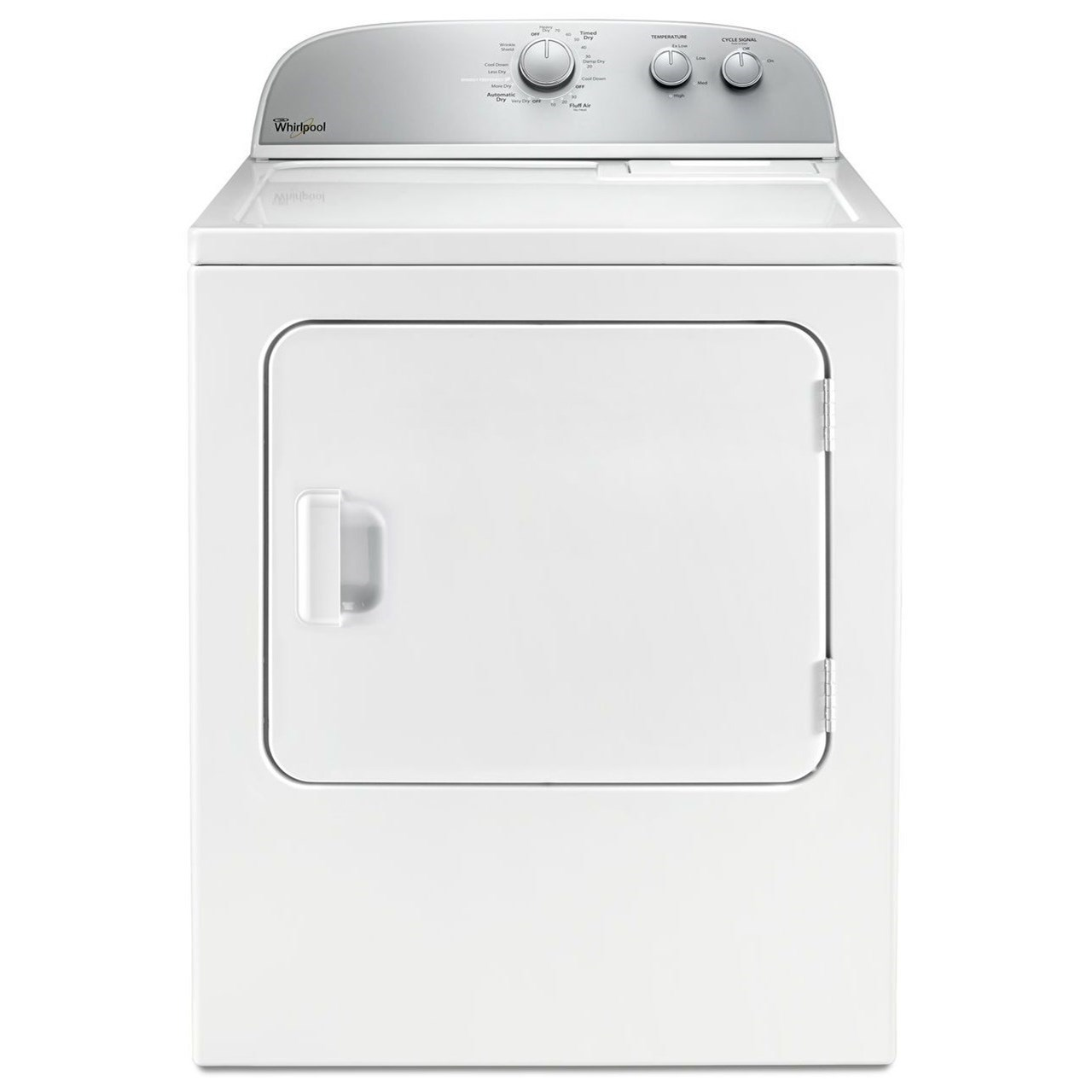 Whirlpool Electric Front Load Dryers 5.9 cu. ft. Top Load Electric Dryer - Item Number: WED4985EW