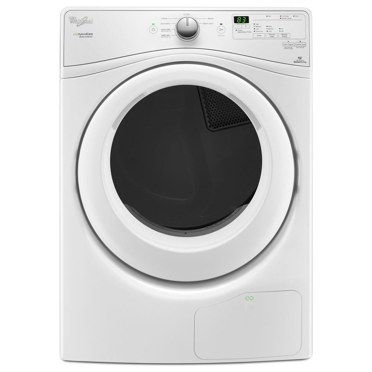 Whirlpool Electric Front Load Dryers 7.4 cu. ft. HybridCare™ Heat Pump Dryer - Item Number: WED7990FW