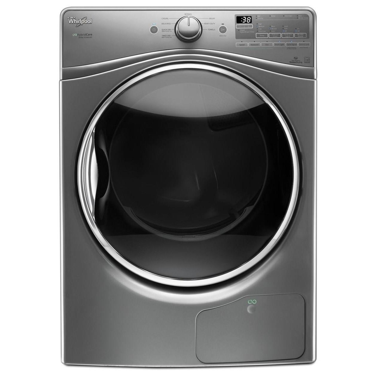 Whirlpool Electric Front Load Dryers 7.4 cu. ft. HybridCare™ True Ventless Dryer - Item Number: WED9290FC