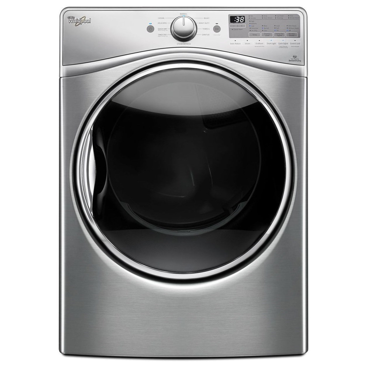 Whirlpool Electric Front Load Dryers 7.4 cu. ft. Electric Dryer - Item Number: WED92HEFU