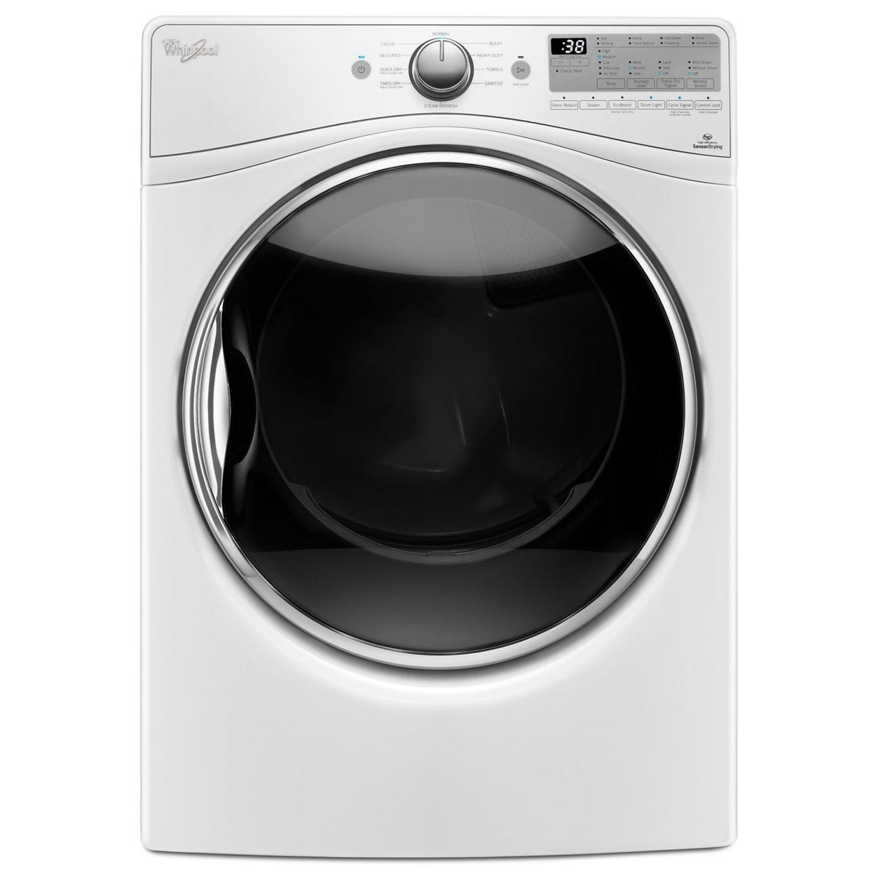 Whirlpool Electric Front Load Dryers 7.4 cu. ft. Electric Dryer - Item Number: WED92HEFW