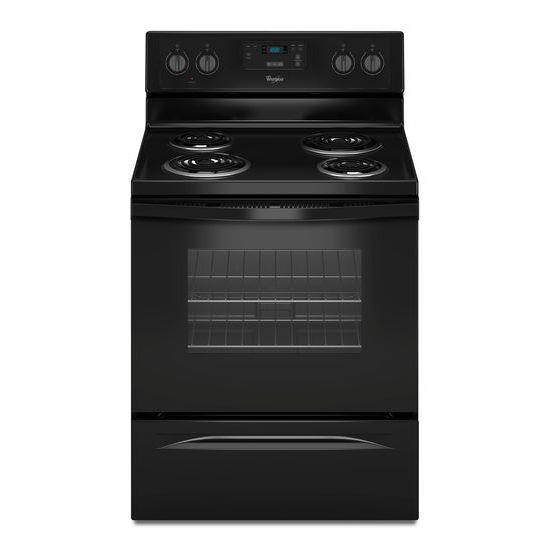 Whirlpool Electric Ranges 4.8 Cu. Ft. Freestanding Electric Range - Item Number: WFC150M0EB