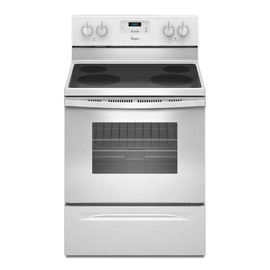 Whirlpool Electric Ranges 4.8 Cu. Ft. Freestanding Electric Range - Item Number: WFE320M0EW