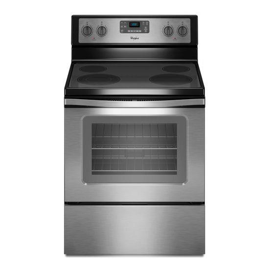 Whirlpool Electric Ranges 5.3 Cu. Ft. Freestanding Electric Range - Item Number: WFE515S0ES