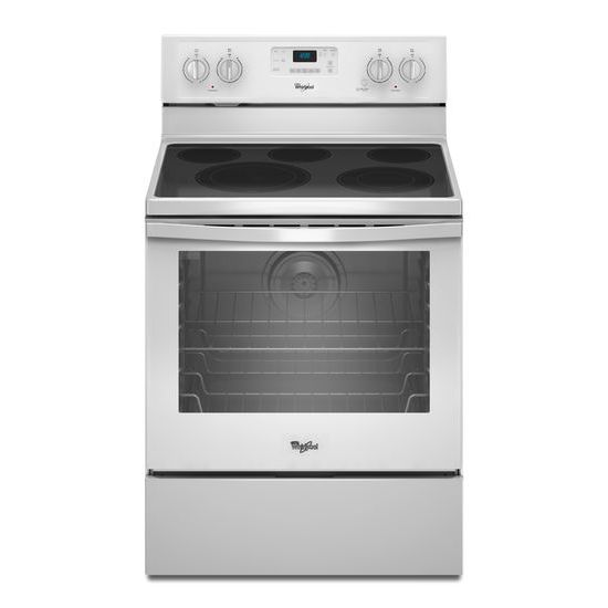 Whirlpool Electric Ranges 6.4 Cu. Ft. Electric Range - Item Number: WFE540H0EW