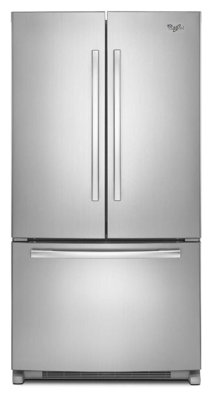 Whirlpool French Door Refrigerators 22 cu. ft. French Door Refrigerator - Item Number: WRF532SMBM