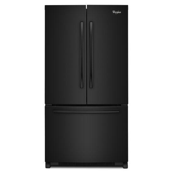 Whirlpool French Door Refrigerators 20 cu. ft. Counter Depth French Door Fridge - Item Number: WRF540CWBB