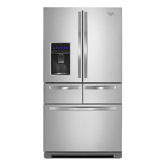 """Whirlpool French Door Refrigerators 36"""" Double Drawer French Door Refrigerator - Item Number: WRV976FDEM"""