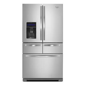 "Whirlpool French Door Refrigerators 36"" Double Drawer French Door Refrigerator"