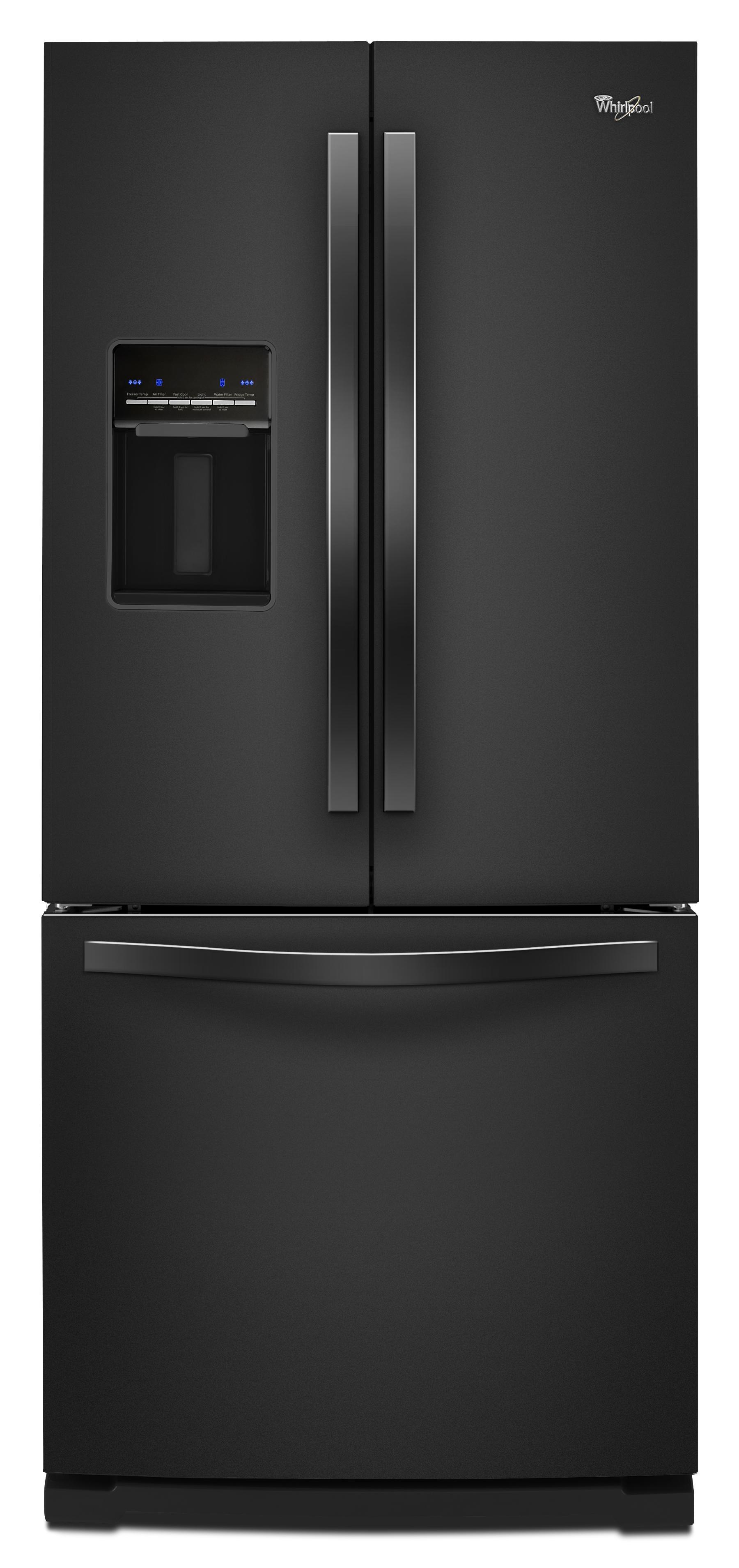 Whirlpool French Door Refrigerators 19.6 Cu. Ft. French-Door Refrigerator - Item Number: WRF560SEYB