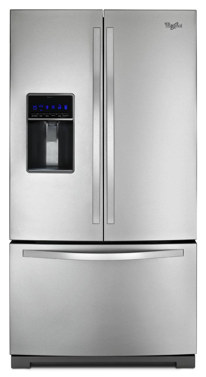 Whirlpool French Door Refrigerators 26 Cu. Ft. French Door Refrigerator - Item Number: WRF736SDAM