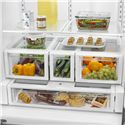 Whirlpool French Door Refrigerators ENERGY STAR® 26 Cu. Ft. French Door Refrigerator with MicroEdge® Shelves - FreshFlow™ Air Filter Effectively Reduces Common Food Odors