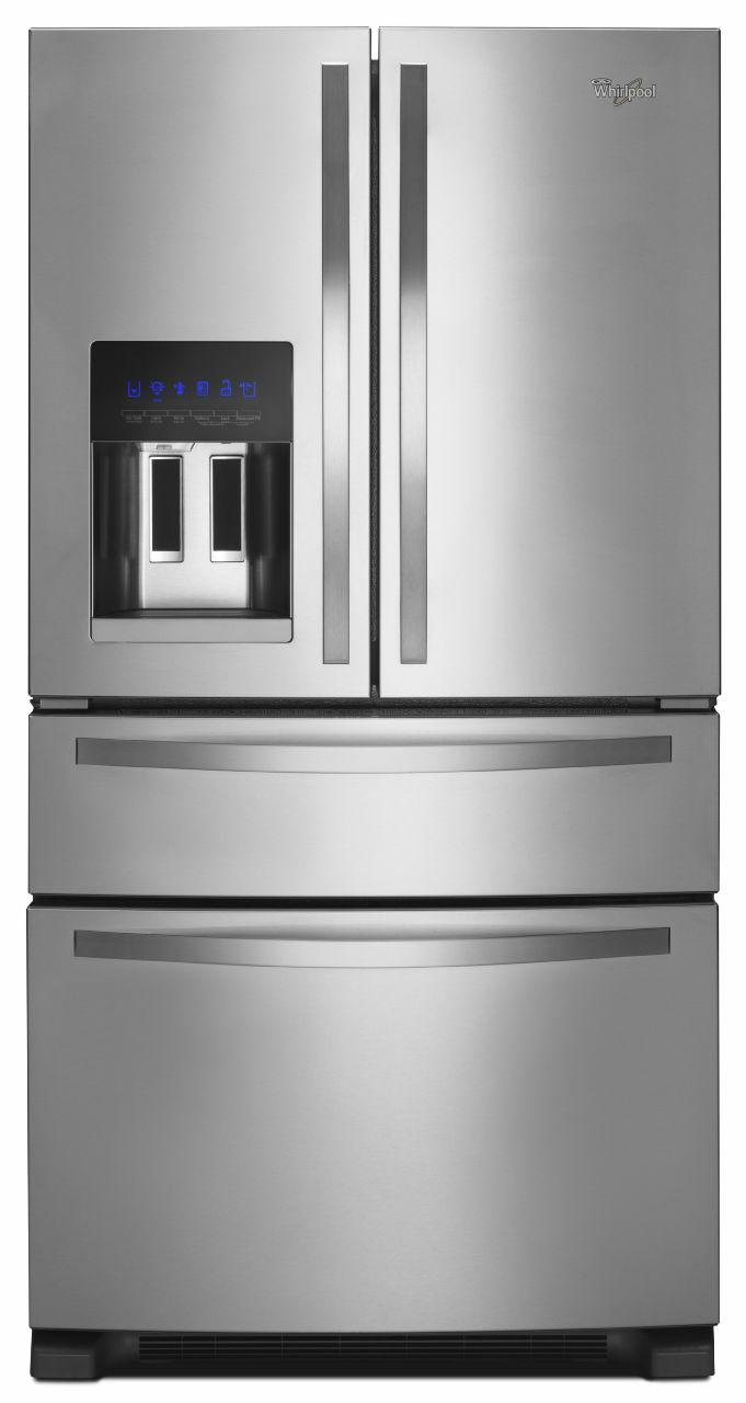 Whirlpool French Door Refrigerators 25 Cu. Ft. French Door Refrigerator - Item Number: WRX735SDBM