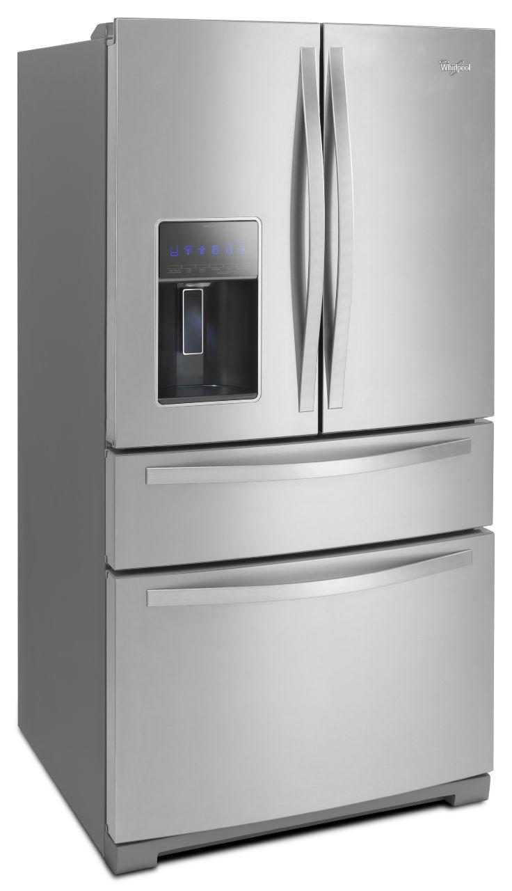 Whirlpool French Door Refrigerators 28 cu. ft. 4-Door French Door Refrigerator - Item Number: WRX988SIBM