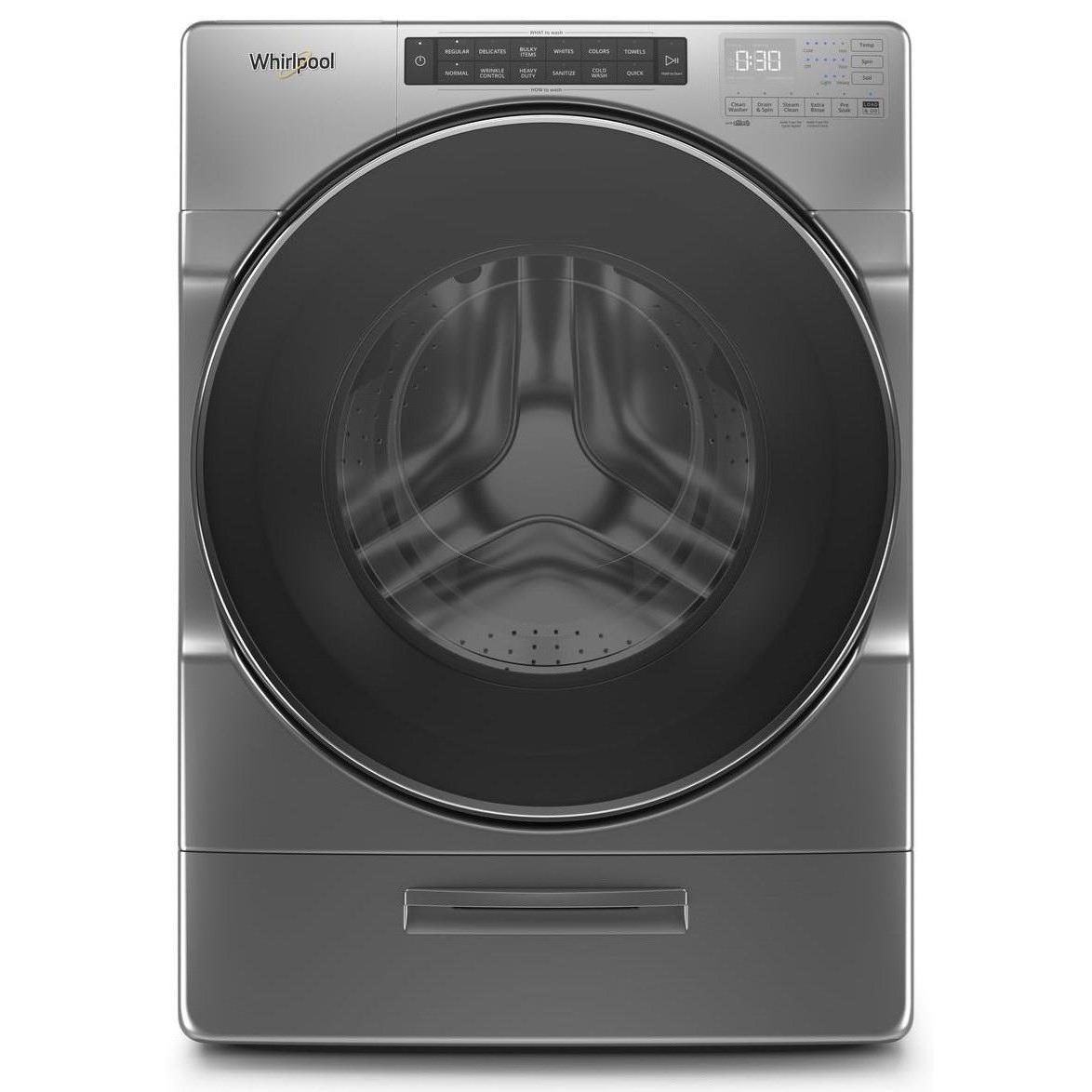 Front Load Washers 4.5 Cu. Ft. Closet-Depth Front Load Washer by Whirlpool at Furniture and ApplianceMart