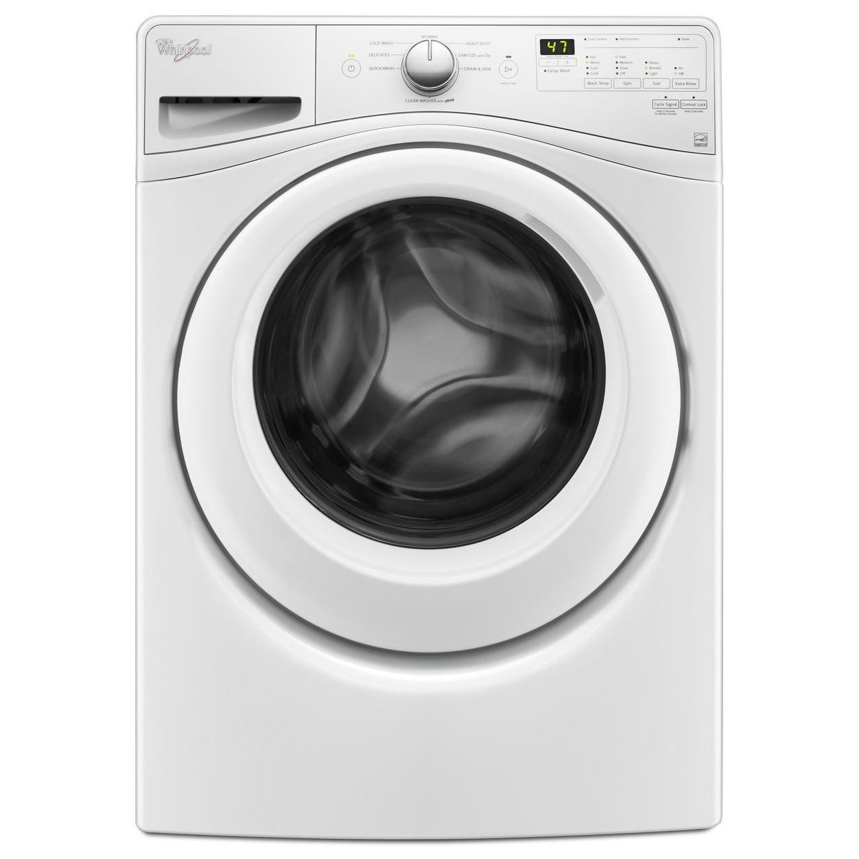 Whirlpool Front Load Washers 4.2 cu. ft. Front Load Washer - Item Number: WFW7590FW