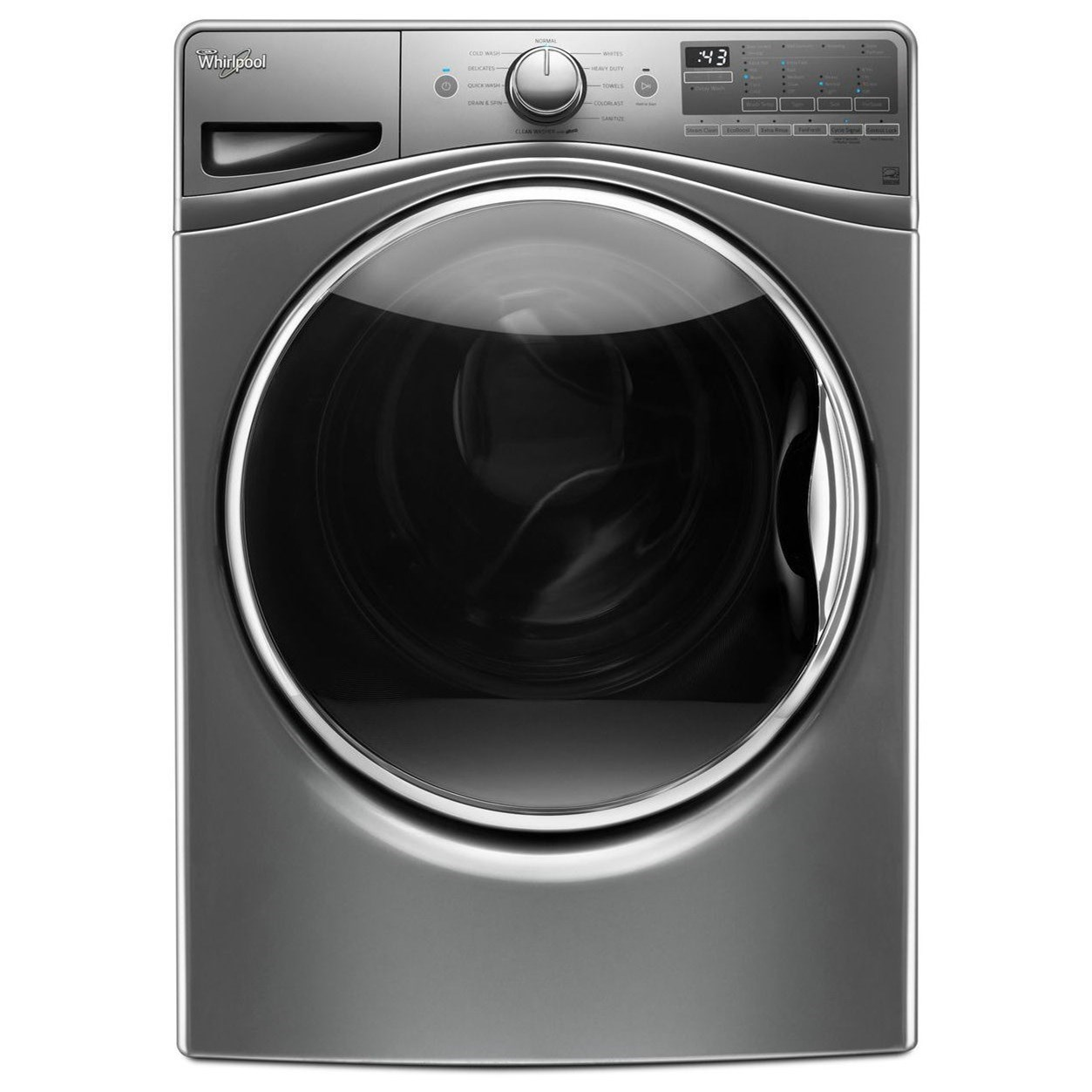 Whirlpool Front Load Washers 4.5 cu. ft. Front Load Washer - Item Number: WFW90HEFC