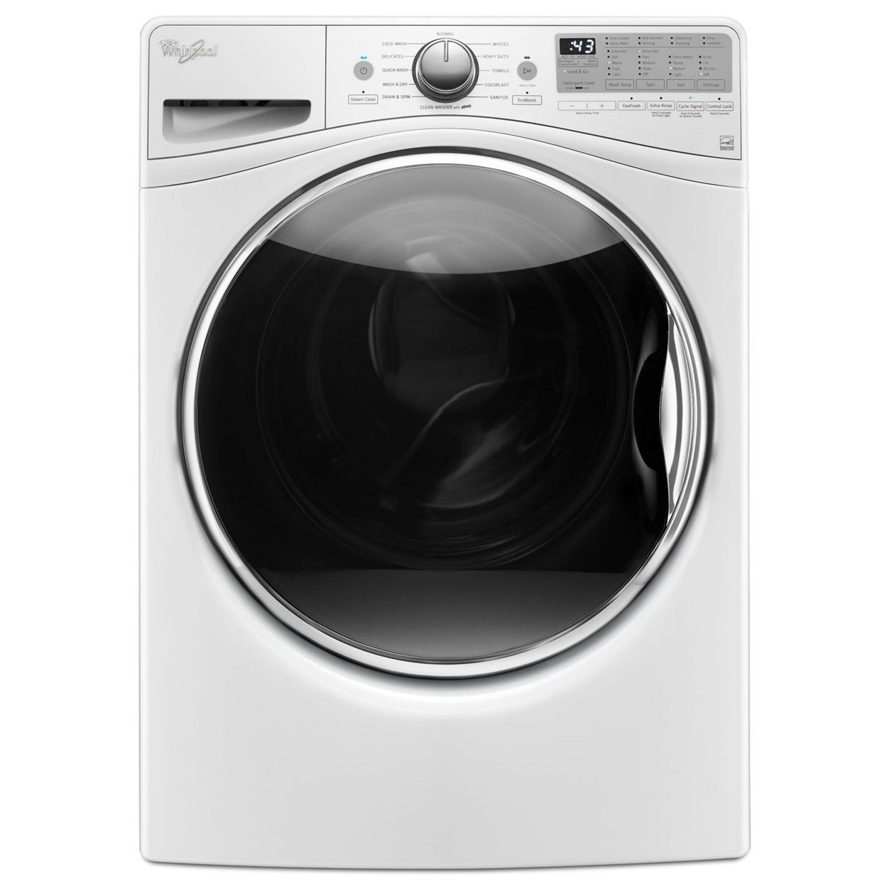 Whirlpool Front Load Washers 4.2 cu. ft. Front Load Washer - Item Number: WFW9290FW