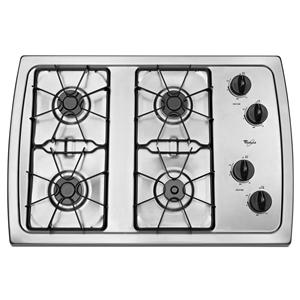 "Whirlpool Gas Cooktops 30"" Built-In Gas Cooktop"