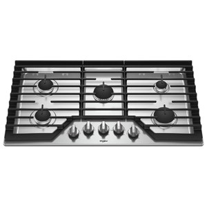 """Whirlpool Gas Cooktops 36"""" Gas Cooktop with Griddle"""