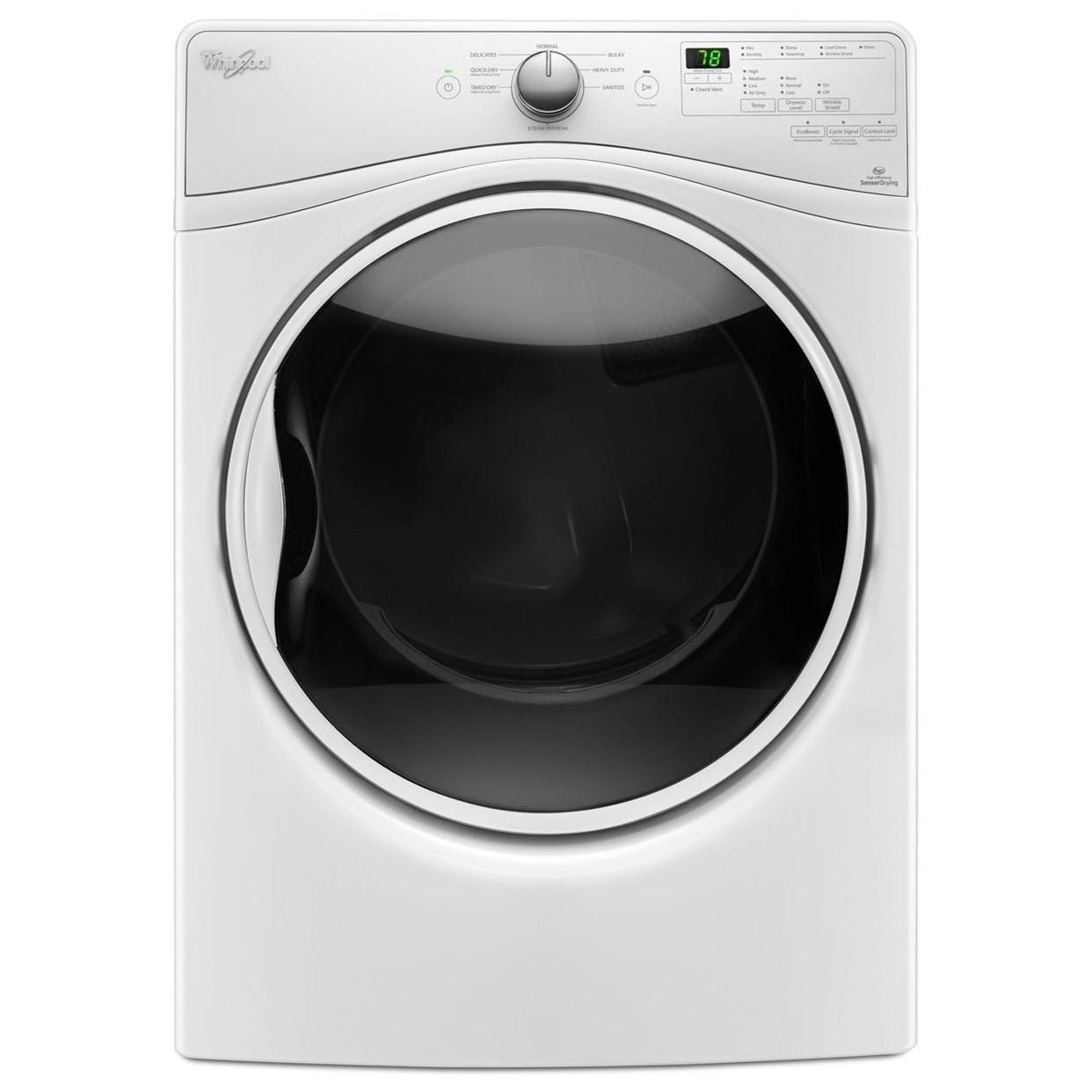 Whirlpool Gas Dryers 7.4 cu. ft. Gas Dryer - Item Number: WGD85HEFW