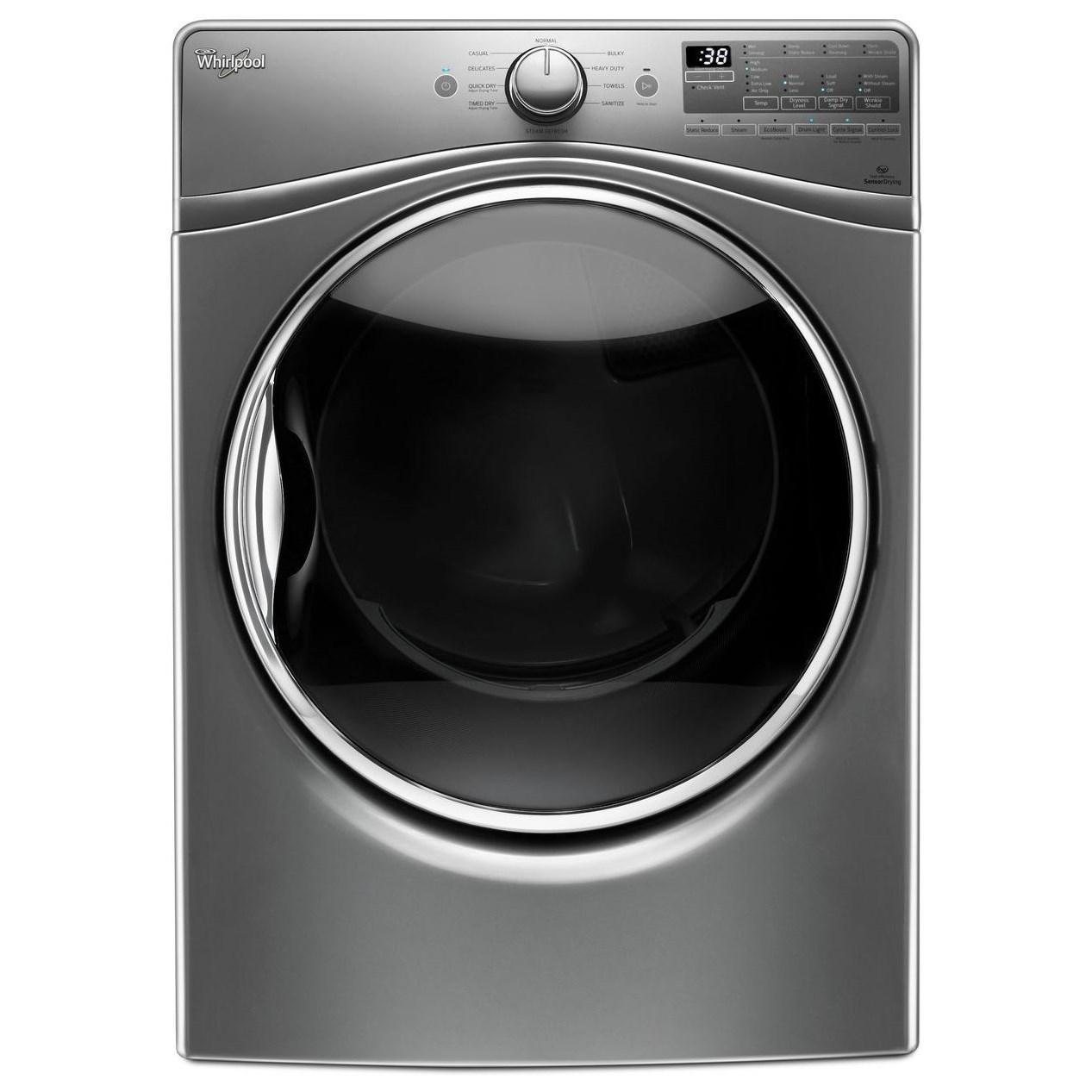 Whirlpool Gas Dryers 7.4 cu. ft. Gas Dryer - Item Number: WGD92HEFC