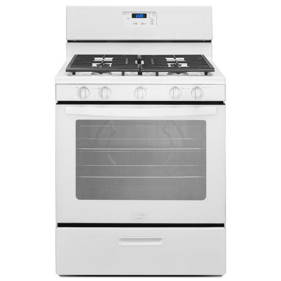 Whirlpool Gas Ranges 5.1 cu. ft. Freestanding Gas Range with Five - Item Number: WFG505M0BW
