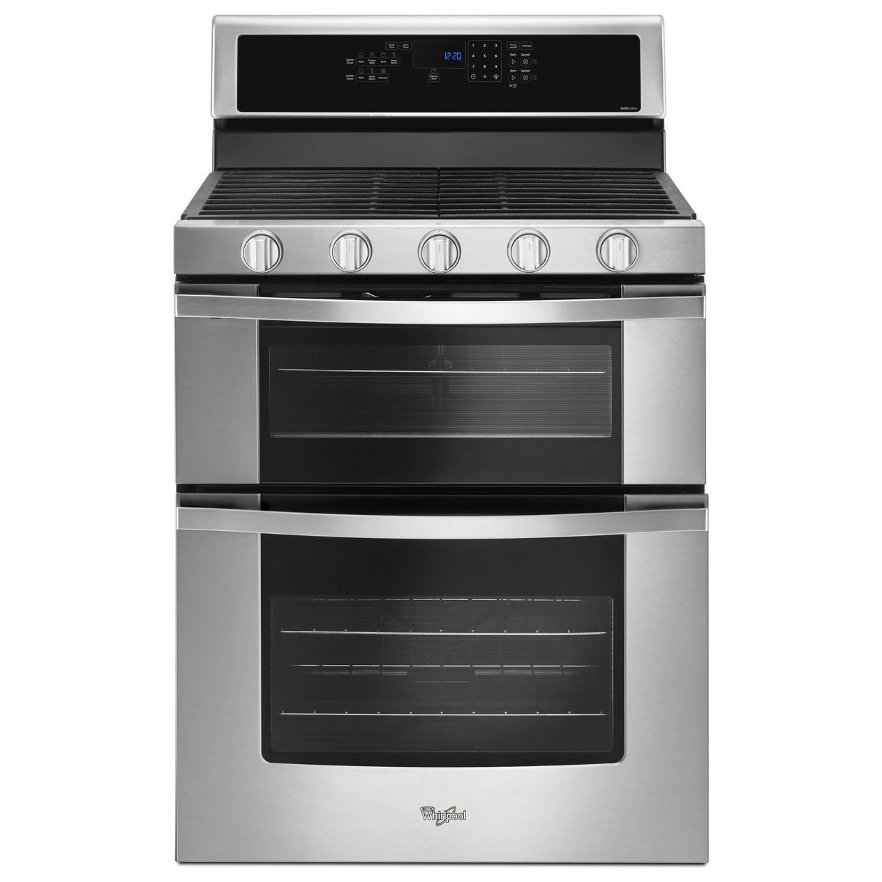 Whirlpool Wgg745s0fs6 0 Cu Ft Gas Double Oven Range With