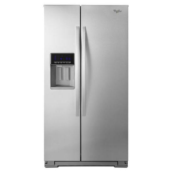 Whirlpool Side by Side Refrigerators 21 cu. ft. Counter Depth Side-by-Side Fridge - Item Number: WRS571CIDM