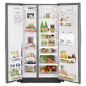 Whirlpool Side by Side Refrigerators 21 cu. ft. Counter Depth Side-by-Side Refrigerator with In-Door-Ice® Plus System