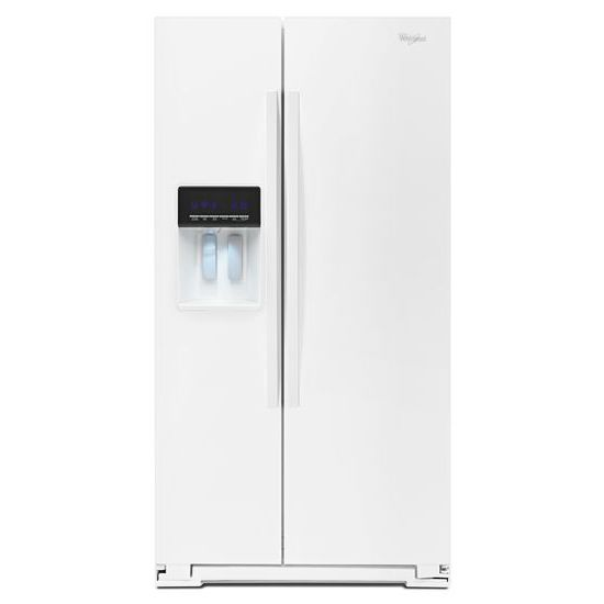 Whirlpool Side-By-Side Refrigerators 20.6 cu. ft. Side-by-Side Refrigerator - Item Number: WRS571CIDW