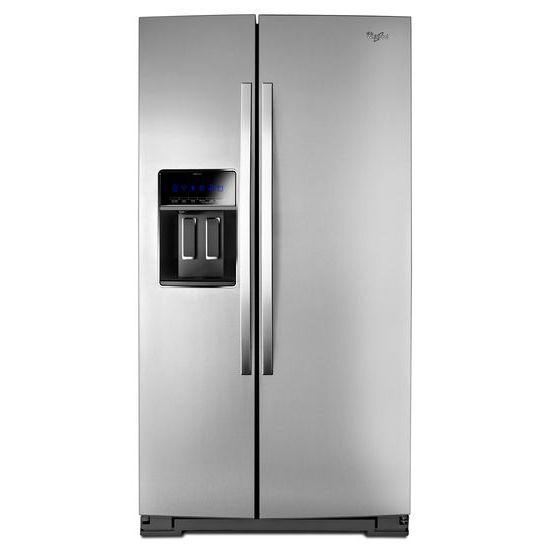 "Whirlpool Side-By-Side Refrigerators 36"" Wide Side-by-Side Counter Depth Fridge - Item Number: WRS970CIDM"