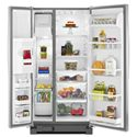 Whirlpool Side-By-Side Refrigerators ENERGY STAR® 22 Cu. Ft. Side-by-Side Refrigerator with LED Lighting - Accu-Chill™ Temperature Management System