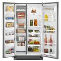 Whirlpool Side-By-Side Refrigerators 25 cu. ft. ENERGY STAR® Freestanding Side-by-Side Refrigerator