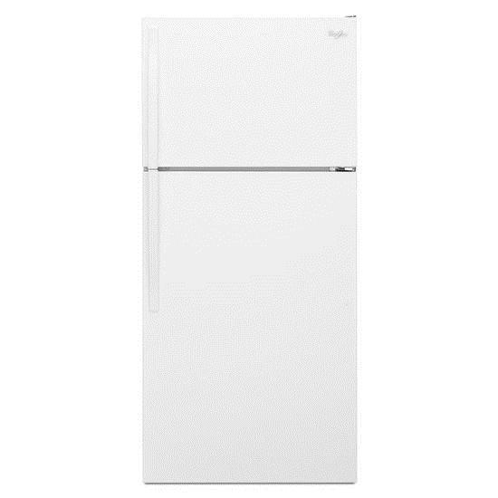 Whirlpool Top Mount Refrigerators 14 Cu. Ft. Top-Freezer Refrigerator - Item Number: WRT104TFDW