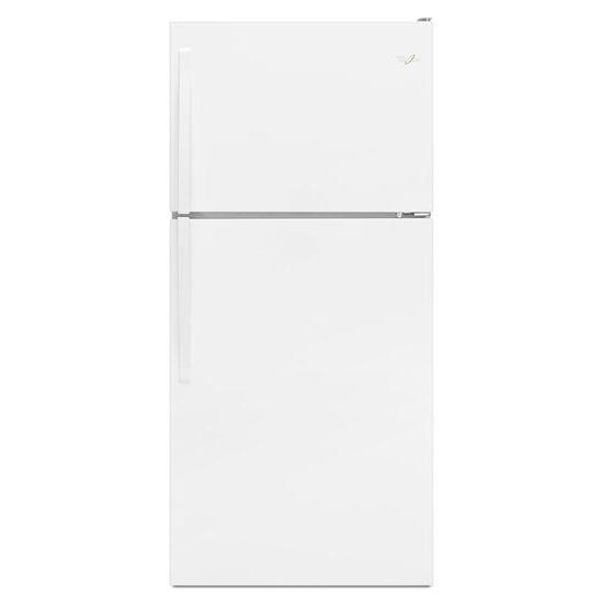 Whirlpool Top Mount Refrigerators 18 cu. ft., 30-Inch Top-Freezer Refrigerator - Item Number: WRT318FMDW