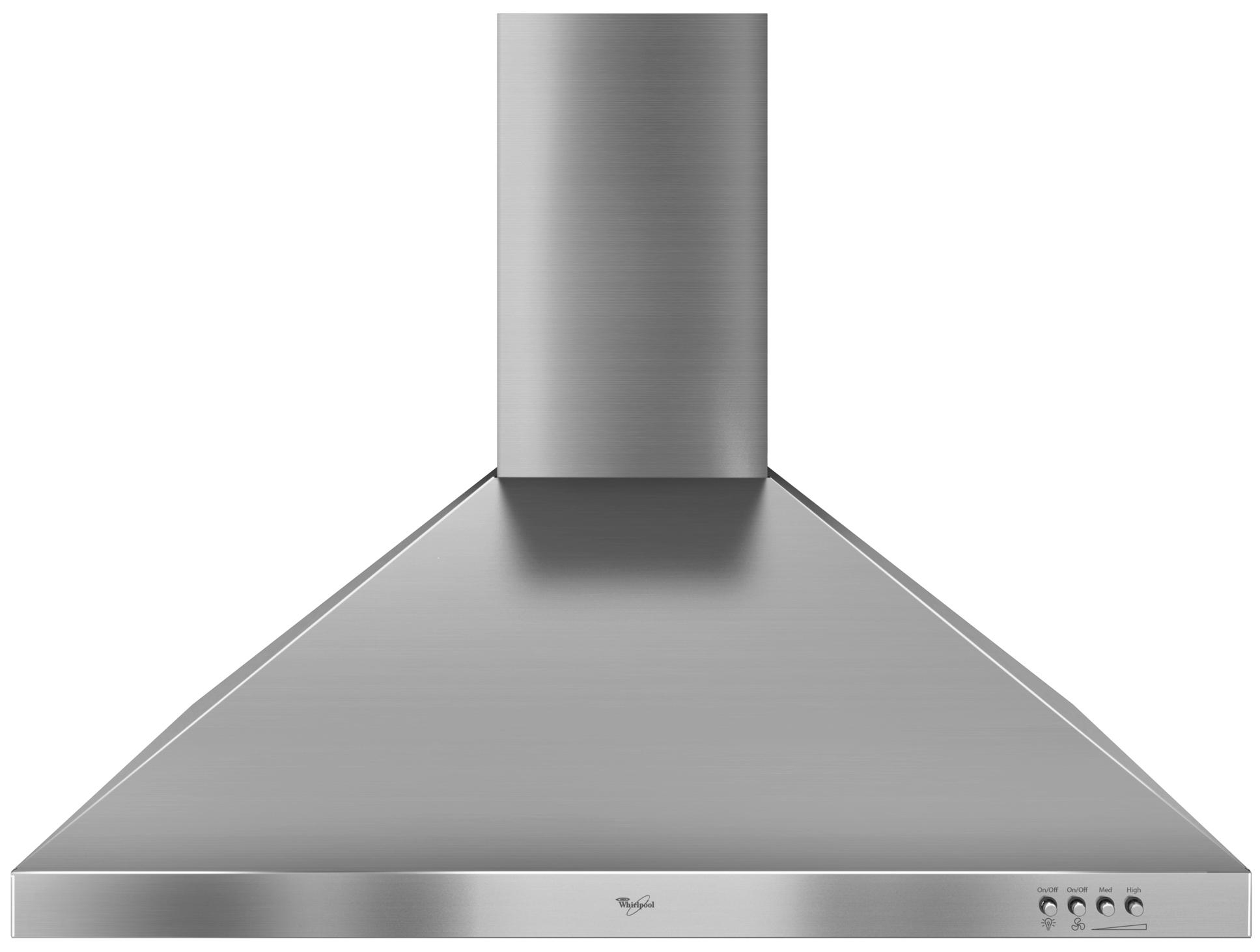 "Whirlpool Ventilation 30"" Vented Wall-Mount Canopy Hood - Item Number: GXW7330DXS"