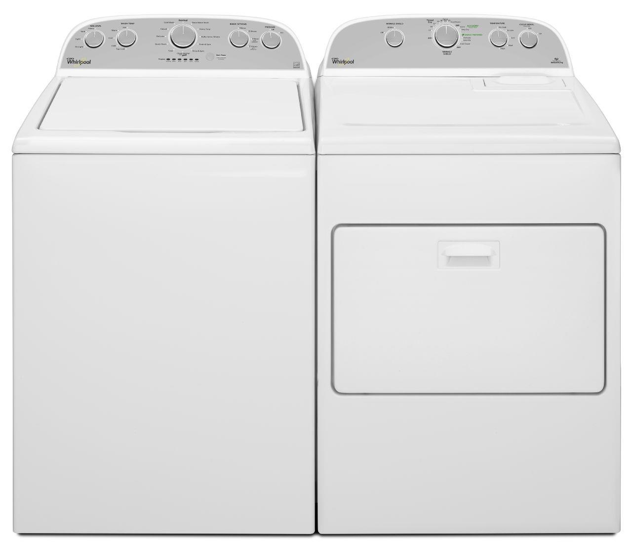 Whirlpool Washer and Dryer Sets Top Load Washer and Electric Dryer Set - Item Number: WTW5000DW+WED5000DW